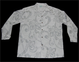 Hawaiian Traditional Silver shadow Men Shirt