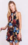 Ladies Mumu Tess Tie Mini Bloom Bloom Dress
