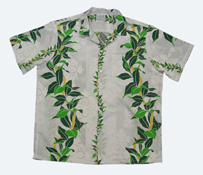 Hawaiian Maile Lei Men Shirt