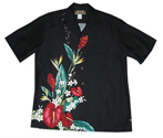 Hawaiian Kona Black Men Shirt