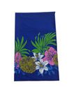 Hawaiian Blue Tropical Garden Flower Men Lava Lava
