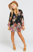 Ladies Mumu Donna Michelle Falling Floral Top