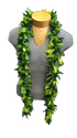 Hawaiian Men Two Tone Fern Open Lei