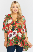 Ladies Mumu Peta Tea Garden Tunic Top