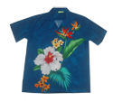 Blue Tropic Flower Shirt