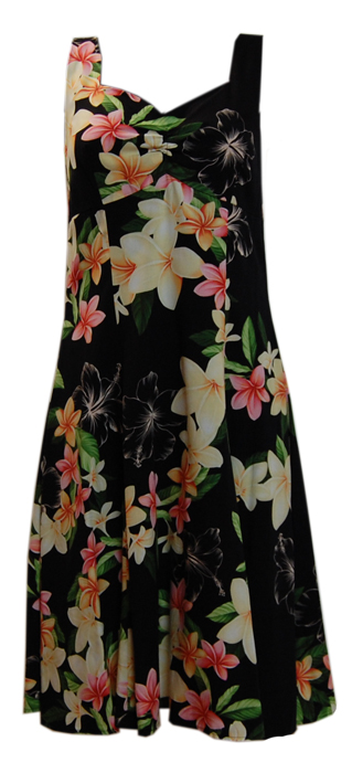 Hawaiian Black Rainbow Sundress
